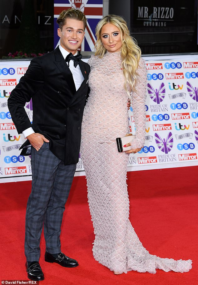 Night off:The pair attended the Pride Of Britain Awards at Grosvenor House Hotel in London on Monday