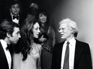 Marisa Berenson with Andy Warhol in 1975. Photograph: Ron Galella/Getty Images