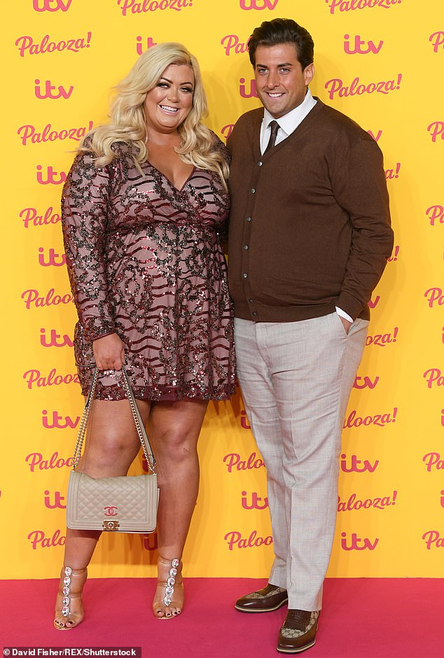 Split: A source told The Sun: 'Gemma is in a really good place now. She is still talking to Arg to support him but doesn't want to get back together as she knows it's toxic.' (pictured together in October 2018)