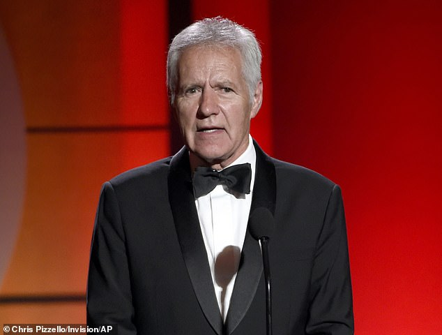 He was reported to be near remission, but had to start a second round of chemotherapy when his tumors came back Pictured: Trebek at Daytime Emmy Awards in April 2017