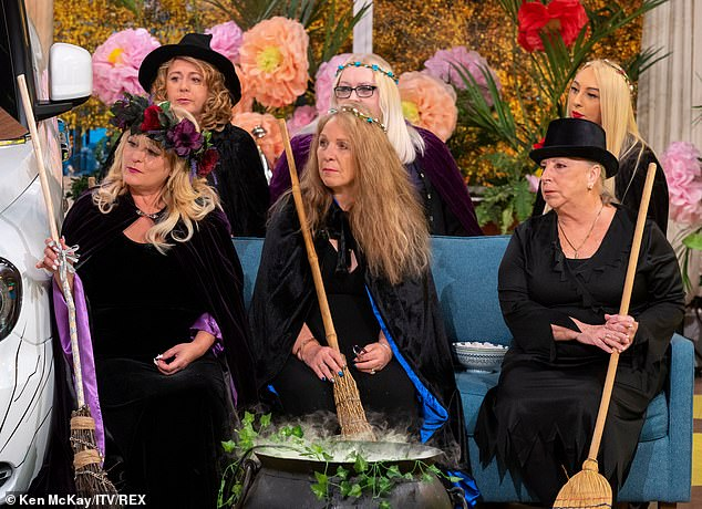 Spellbound:Elsewhere on the spooky-themed show, the two presenters took part in a spiritual prayer with 'The Real Witches Of Eastchurch', who were guests on the programme