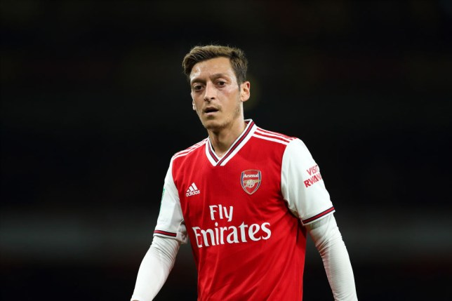 Mesut Ozil was left out of Arsenal's squad for the Manchester United clash