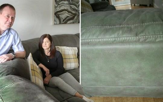 The sofa turning green