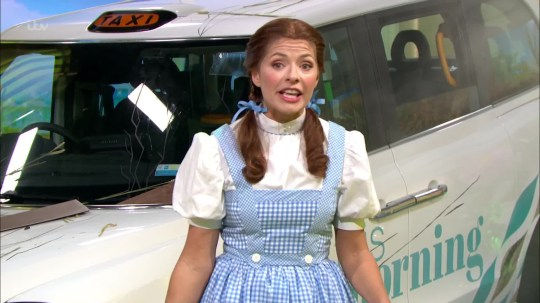 Holly Willoughby as Dorothy on This Morning