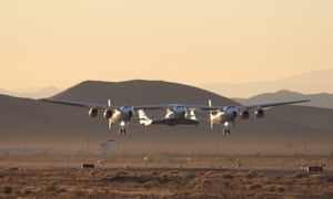 A Virgin Galactic test flight in the Mojave desert last year