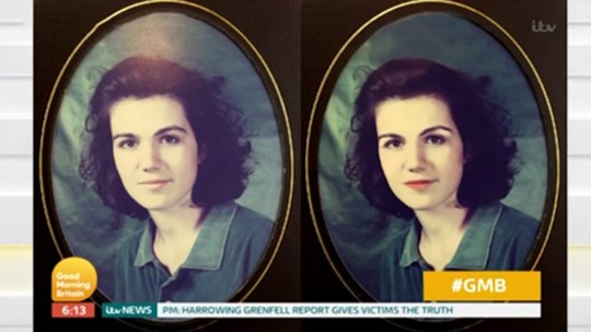 Susanna Reid school photo on GMB