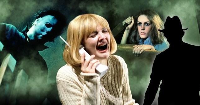 Horror movies Scream, Halloween, A Nightmare on Elm Street