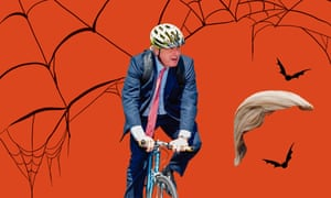 Trump wig and a cycling helmet: easy Boris.