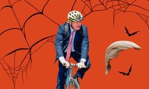 Trump wig and a cycling helmet: easy Boris.