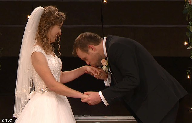 Build-up: The two shared a very intimate first kiss at the altar after being pronounced husband and wife