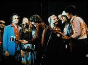 Playing in The Last Waltz with the Band, with guests Dr John, Neil Diamond, Joni Mitchell, Neil Young and Bob Dylan.