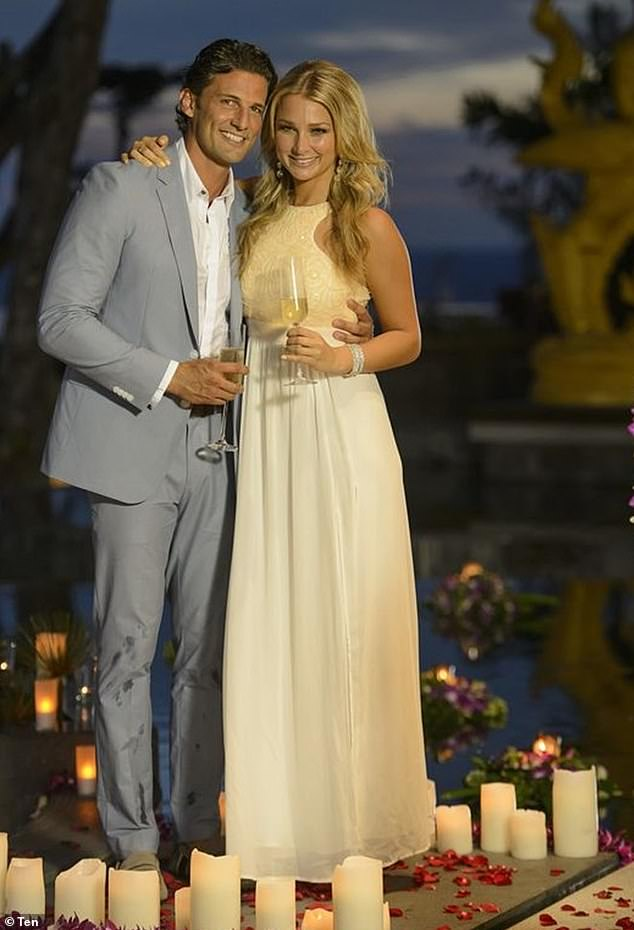 Fairytale beginnings:Tim and Anna, who met on the 2013 season of The Bachelor, married in Puglia, Italy in June last year