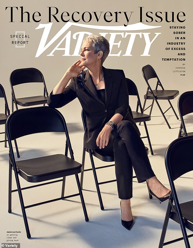 Tough: The 60-year-old actress told Variety that she considers herself a 'junkie' even more than 20 years after initially seeking help to combat her addiction with pain pills