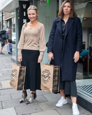 Jess and Melanie with their secondhand finds.