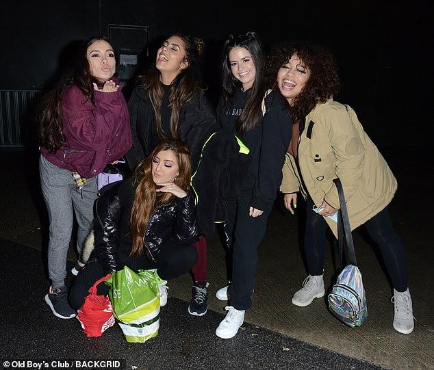 Loving life: Sofia, Alondra, Laura, Wendii and Natalie oozed girl power