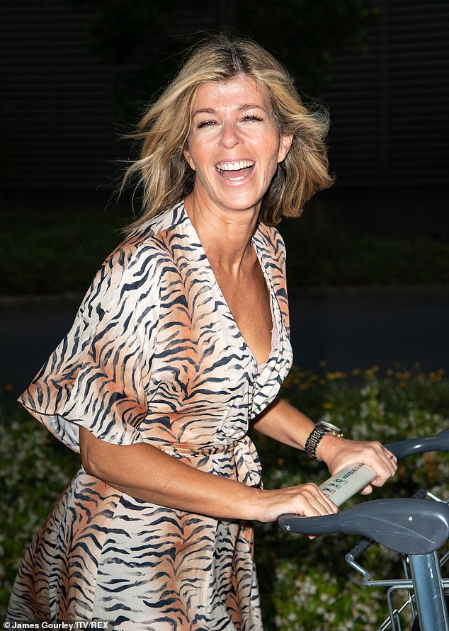 Beaming: The Good Morning Britain host, 52, who has been teasing her appearance in the jungle for weeks, was beaming as she prepared for the challenges ahead