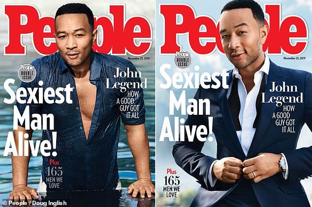 Double cover: John is shown on the double covers of the upcoming November 25 issue of People magazine