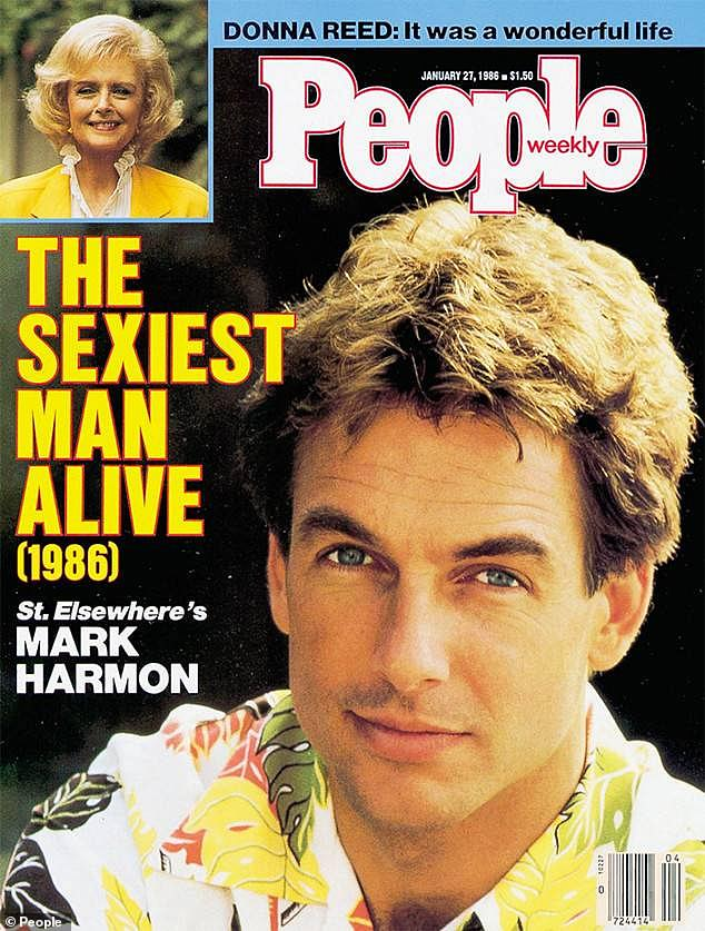 Past covers: Mark Harmon in 1986 was named People's Sexiest Man Alive