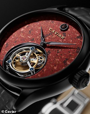 Cavier is known for its luxurious and imaginative creations – it offers a watch made with alligator skin