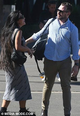 Friendly greeting: MAFS star Martha hugged a male pal before boarding the boat