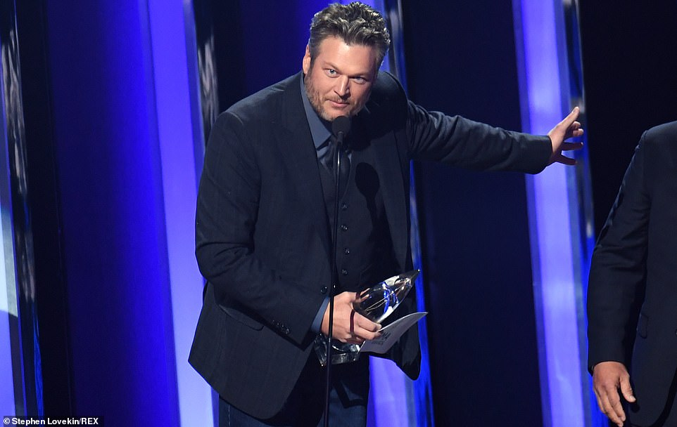 Blake wins:Blake Shelton kicked off the 53rd Annual CMA Awards by winning the first award of the night, Single of the Year, his first time winning the award in his storied career