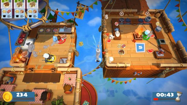Gameplay from Overcooked 2.