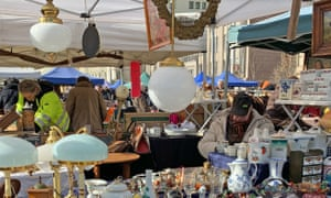 The Saturday flea market in Vienna's Naschmarkt area.