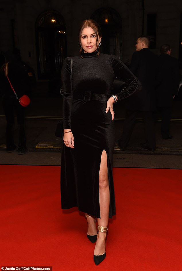 Woman in black: Other stars in attendance also included Imogen Thomas, who looked classy in an all-black ensemble