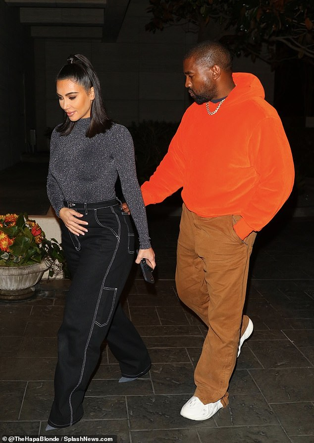 Not long to go: They're in Houston, Texas, for Kanye West's, 42, appearance at Lakewood Church for his 45,000 attendee Sunday Service later today
