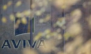 British insurance giant Aviva's headquarters in London.