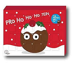 PROTEIN BALL:There is a protein ball behind each window of this calendar