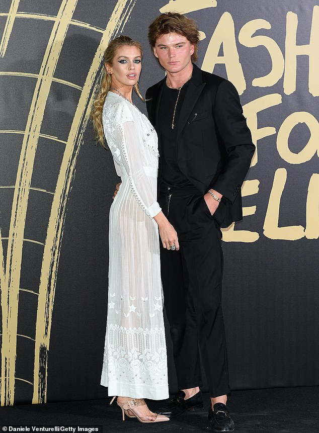 Pals: The Australian and New-Zealand/UK models have been close friends for many years and were recently seen posing together on the red carpet together at the Fashion For Relief event in September (pictured)