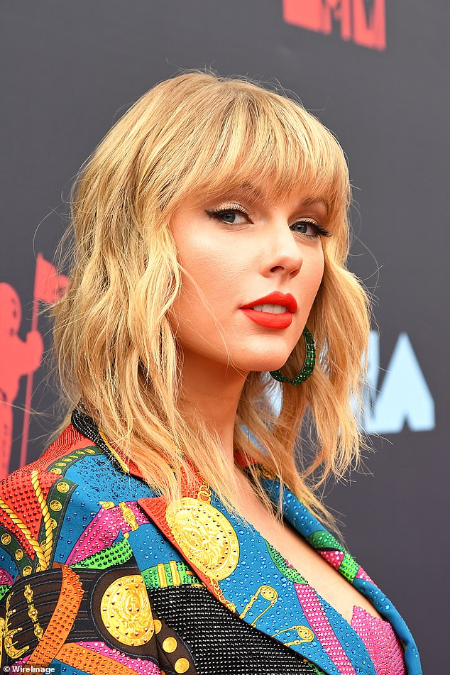 Beauty: Taylor pictured at the MTV VMAs in New Jersey back in August