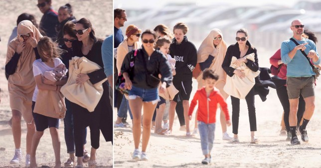 Angelina Jolie on the beach