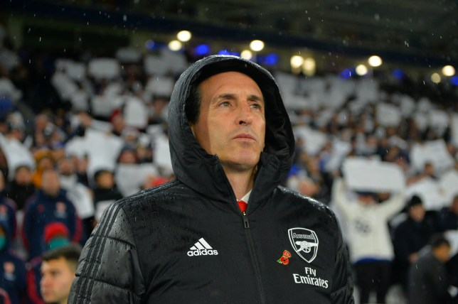 Manager of Arsenal Unai Emery before the Premier League match between Leicester City and Arsenal FC