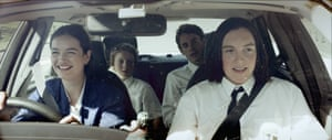 Four teenagers in a car