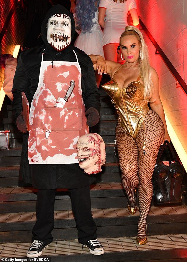 Coco Austin Heidi Klum Halloween Party 2020 Coco Austin channels iconic Madonna look with hubby Ice T at Heidi