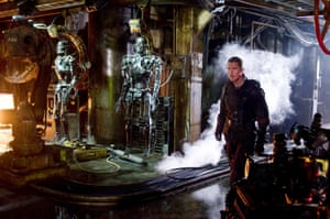 Christian Bale in a scene from Terminator: Salvation