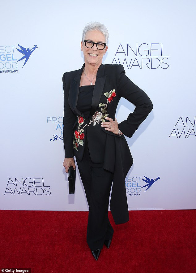 Standing strong: Jamie Lee Curtis took a deep dive into her life after a secret battle with drugs and alcohol; seen in September