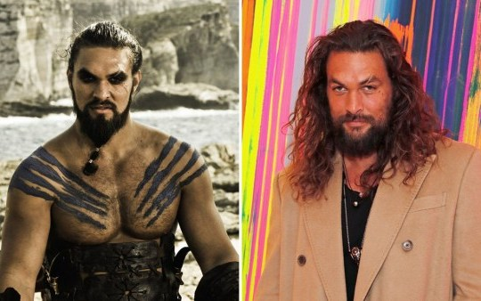 Jason Momoa and Khal Drogo