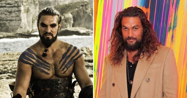 Jason Momoa and Khal Drogo
