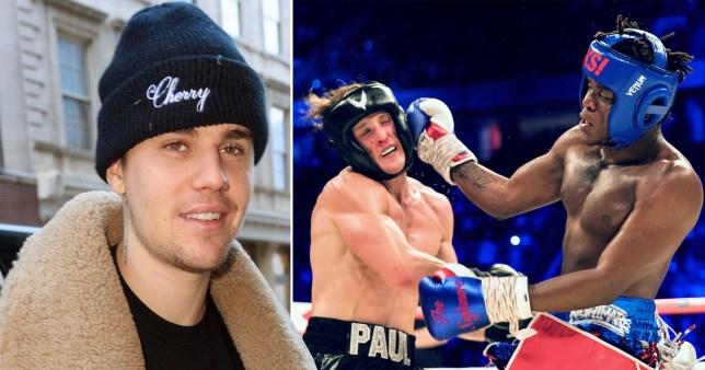 Justin Bieber, Logan Paul, and KSI