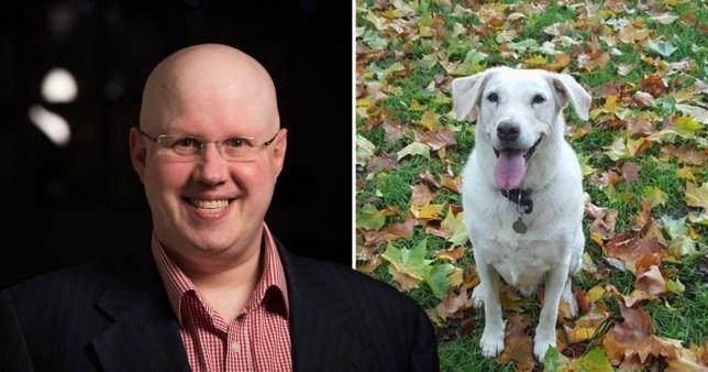 Matt Lucas and dog Hob