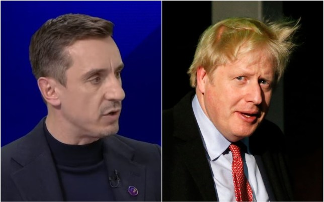 Gary Neville has criticised Boris Johnson for his message on immigrants