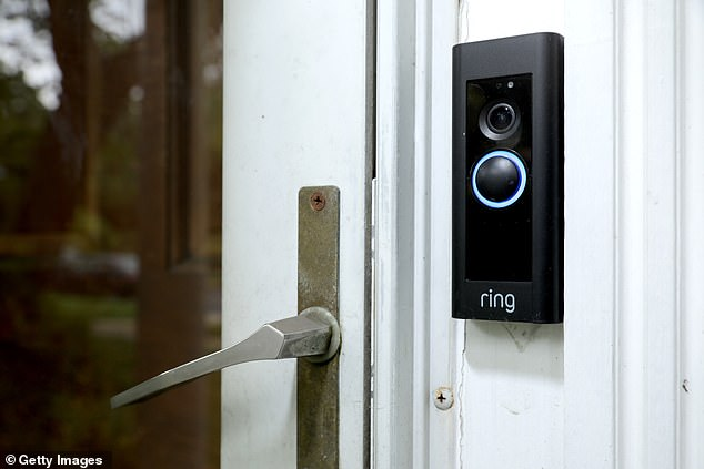 Ring cameras have been at the center of hacks in which bad actors hijack the device's loudspeaker and harass users on the other side (Stock photo)