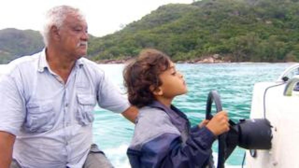 Darryl Green and his grandson