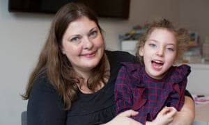 Jo Elgarf with her daughter Nora. Jo is worried about whether her daughter's medication will be available post-Brexit.