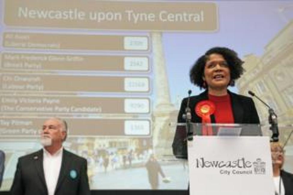 Labour's Chi Onwurah gives a speech