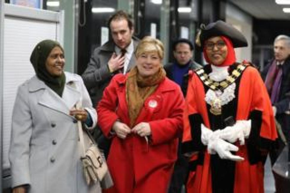 Emily Thornberry and Councillor Rakhia Ismail
