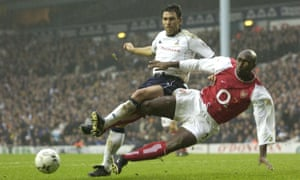 Sol Campbell tackles Gus Poyet on a return to Tottenham in 2002. 'Not everyone's going to like you,' he says.